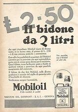 W7873 MOBILOIL - Il bidone da 2 litri... - Pubblicità del 1929 - Old advertising