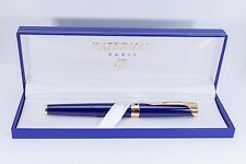WATERMAN L'ETALON BLUE & GOLD FOUNTAIN PEN FOUNTAIN PEN 18K GOLD NEW MED IN BOX