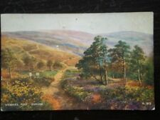 POSTCARD DEVON EXMOOR - WEBBERS POST