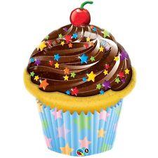 """35"""" Gigante Globo Papel Aluminio Cumpleaños De Chocolate Helado Cupcake Qualatex con licencia"""