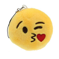 Emoji Smiley Emoticon Throwing Kiss Key Chain Toy Gift Pendant Bag Accessory A2