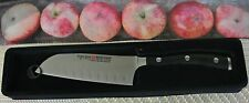 "wusthof classic ikon santoku knife black PEtec # 4172-/14cm5"" solingen germany"