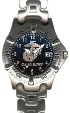 U.S. Marine Corps Brass Mens Watch - 30m Water Resistant