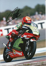 Emilio Alzamora Hand Signed Caja Madrid Derbi 12x8 Photo 2003 125cc.