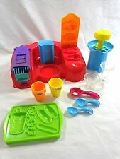 Play Doh Ice Cream Play Set 10 Pieces Sundae Scoop Cone Popsicle 2003