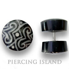 Ohrringe Fake Horn Bone Tunnel Plug Piercing  F086