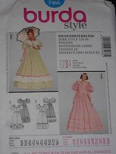 Civil War Dress Costume Size 10-28 Burda 7466 Sewing Pattern