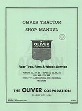Oliver 66 77 88 55 550 660 770 880 Tires Wheels Service Manual