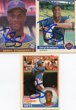 Mets Darryl Strawberry  1984 Fleer  Rookie card signed