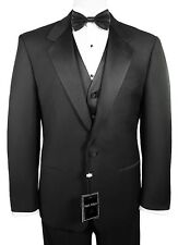 Man's Tuxedo with Flat Front Pants. Size 42 Short Jacket & 36 (Waist) Pants.