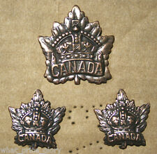 Canada General Service WWI Cap and Collar Badge Set (Repro)