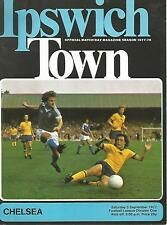 Football Programme - Ipswich Town v Chelsea - Div 1 - 3/9/1977