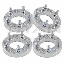 (4) 25mm 5x4.5 Wheel Spacers 1 Inch 5x114.3 Adapters 12x1.5 Studs Billet
