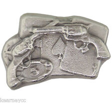 2 TROY OUNCE .999 FINE SILVER HAND POURED BISON BULLION PREMIUM BAR GAMBLER