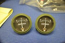 NOS FARIA 2''AMP AMPERES GAUGE VOLTS  US ARMY truck military jeep  HOT ROD RAT