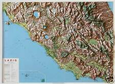 LAZIO 91X69 CM CARTA REGIONALE IN RILIEVO L.A.C (CARTINA/MAPPA) 9788879144148