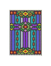 Stainglass Floral Cross Pony Bead Banner Pattern Only