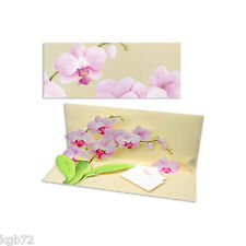 3D Potted Orchid Pop Up Card Panoramic Greeting Card  Up With Paper Panoramics
