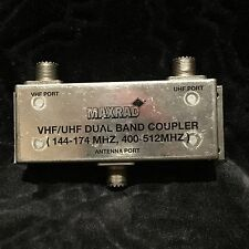 "Maxrad PCTel VHF/UHF Dual-Band Coupler (""Duplexer""), Excellent Condition"