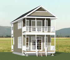 16x28 Tiny Home -- 810 sqft  -- PDF Floor Plan-- 8:12 Roof Pitch -- Model 3E