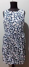 Immaculate Size 12 Sunny Girl Blue & White Cotton/Elastane Dress- 48cm Bust