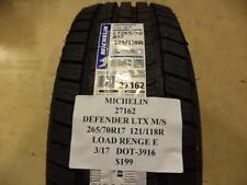 MICHELIN DEFENDER LTX M/S 265 70 17 121/118R LRE BRAND NEW TIRE 27162