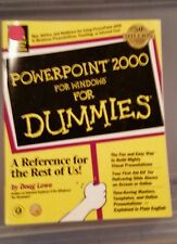 PowerPoint 2000 for Windows for Dummies by Lowe, Doug [Paperback] plus  2 free
