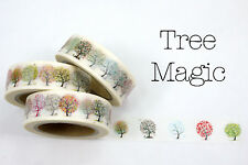 Chugoku Washi Deco Paper Tapes - Flowers - Tree Magic