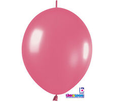 """20ct. FUCHSIA PINK Link-o-Loon 6"""" Latex Helium Linking Balloons ARCHES ARBORS"""