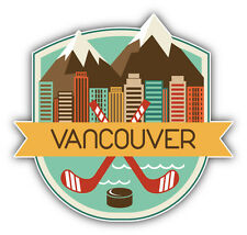 "Vancouver City Canada Travel Emblem Car Bumper Sticker Decal 5"" x 5"""
