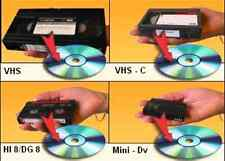 DIGITAL8 VIDEO8 HI8 8mm CAMCORDER FOOTAGE VCR VHS TAPES TO DVD TRANSFER SERVICE