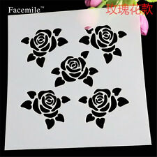 5 Pcs Roses Pattern Stencil for art craft spray cake and Home decor