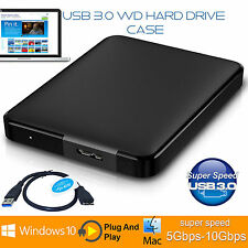 3.0 Usb Sata HDD 2.5 pulgadas disco duro externo 5 Gbps recinto caso Caddy Negro UK