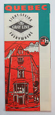 The Gray Line Vintage Brochure, Quebec Sight-Seeing Everywhere, Quebec Autobus