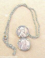 Unique Two Penny 1973 & 75 Coin Neckalce on Chain Jewelry