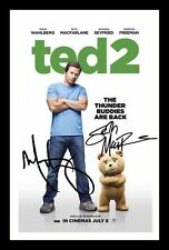 TED 2 - MACFARLANE & WAHLBERG AUTOGRAPHED SIGNED & FRAMED PP POSTER PHOTO
