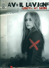 """AVRIL LAVAGNE """"UNDER MY SKIN"""" GUITAR-TAB/VOCAL MUSIC BK NEW ON SALE 30% OFF"""