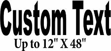 "Custom Sign up to 12""X48"" Decal store front Letters Car Window business decals"