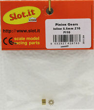 SLOT IT SIPI10 10-TOOTH BRASS INLINE PINION GEAR 5.5mm NEW 1/32 SLOT CAR PART