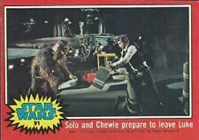1977 Topps Star Wars Ser 2 Red #91 Solo And Chewie Prepare To Leave Luke   Good