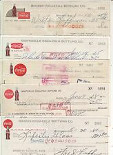 COCA-COLA  BOTTLING CO. CHECKS 5 DIFFERENT DESIGNS & OR CITIES NICE ASSORTMENT