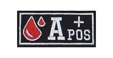 A+ Pos Blutgruppe Patch Aufnäher Badge Blood Type Biker Rocker Bügelbild Kutte