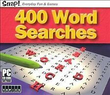 SNAP! 400 Word Searches (Jewel Case) - PC Topics Entertainment Video Game