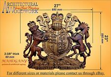 Hardwood Royal Heraldic Coat Of Arms Of The Great Britain