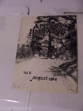 ARIZONA HIGHWAYS MAGAZINE 1926 AUGUST cover GILA COUNTY ROAD near Roosevelt Resv