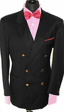 MENS LUXURY BRIONY ROMAN STYLE SPORTS GOLD BUTTOM SUIT JACKET BLACK BLAZER 44R