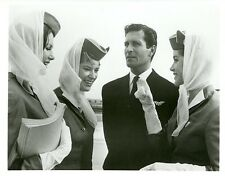 HUGH O'BRIAN DOLORES HART PAMELA TIFFIN STEWARDESS COME FLY WITH ME CBS TV PHOTO