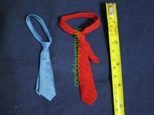 """1/6 Scale Hot Red Tie & Blue Tie Set for 12"""" Action Figure Toys"""
