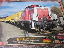 Lokarchiv Dieselloks 55 BR 214 (714) Sonderlok Tunnelhilfszüge DB