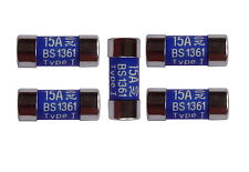 BS1361 15A / 15 Amp LC15 Consumer Unit (Fuse-Box) Fuses | 5 Pack